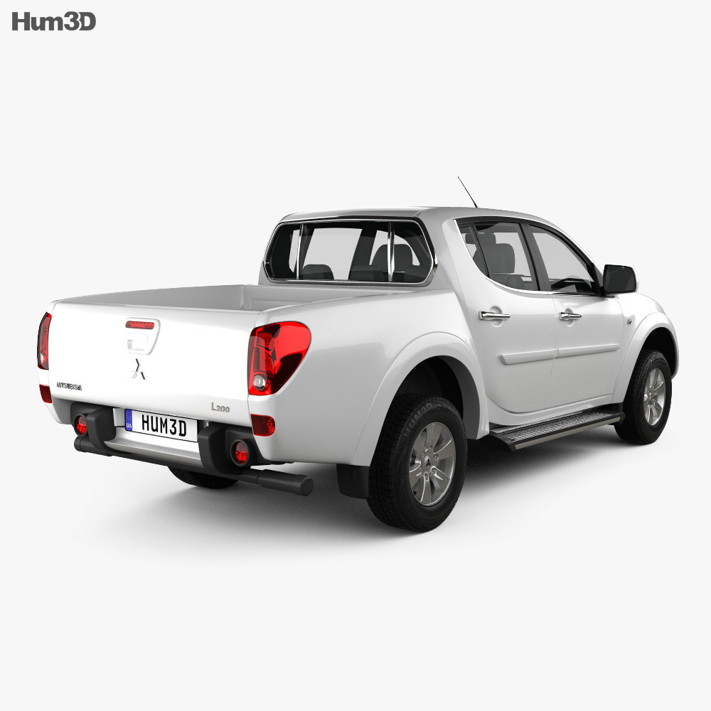 Mitsubishi L200 Triton Double Cab 2012 3d model