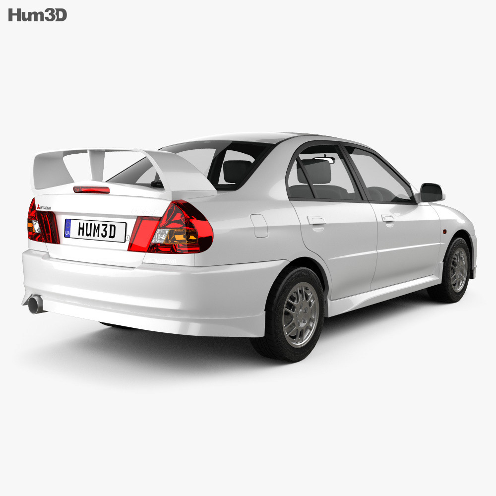 Mitsubishi Lancer Evolution 1997 3d model back view