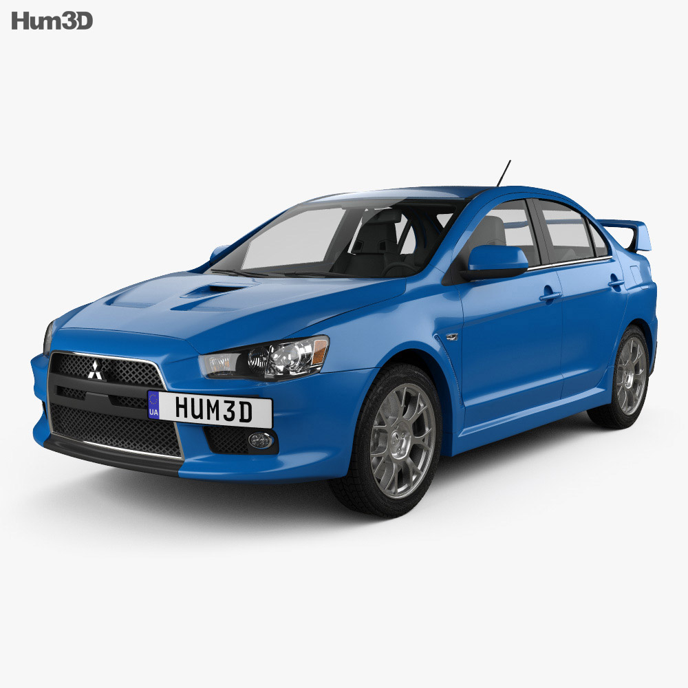 Mitsubishi Lancer Evolution X 2009 3d model