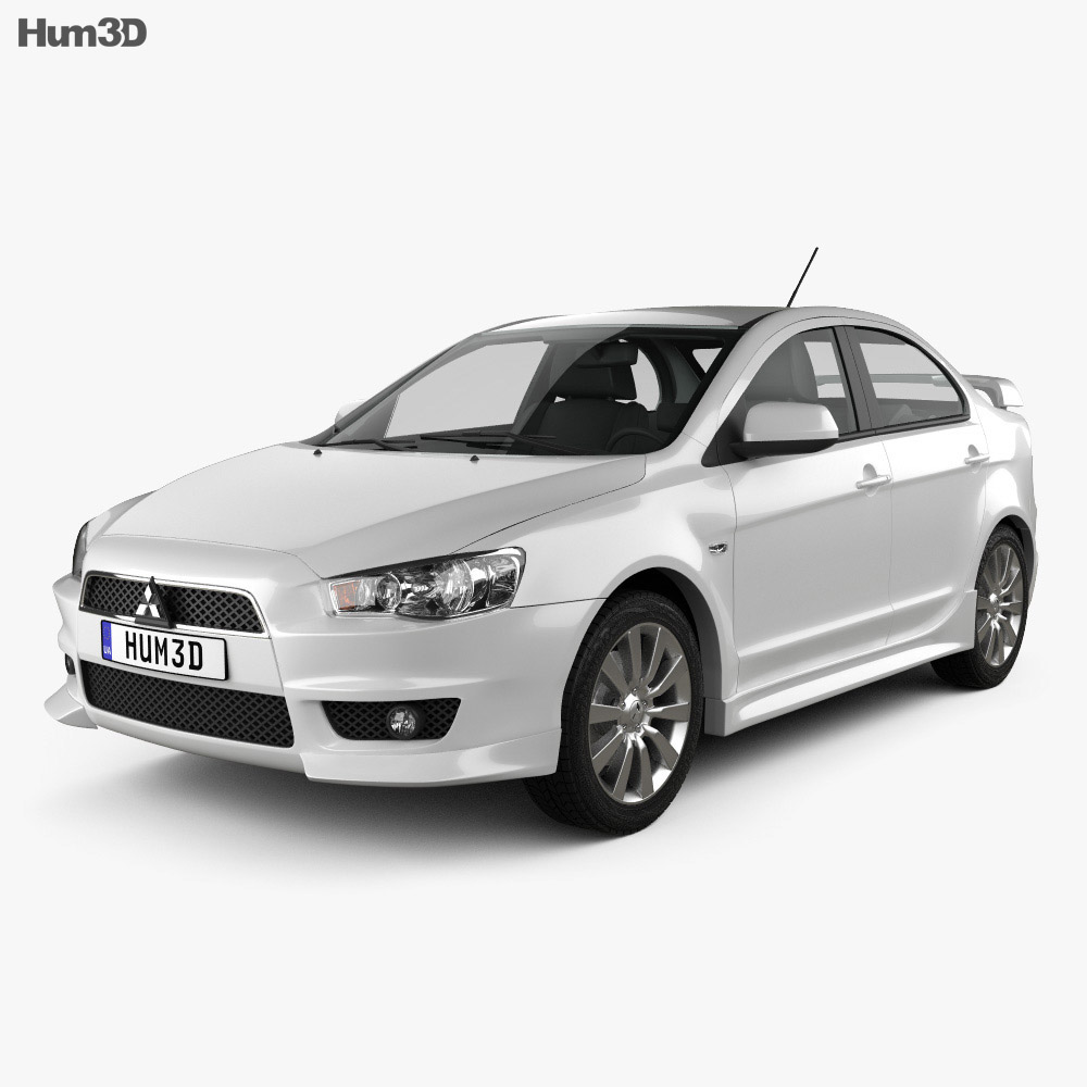 Mitsubishi Lancer Sedan 2009 3d model