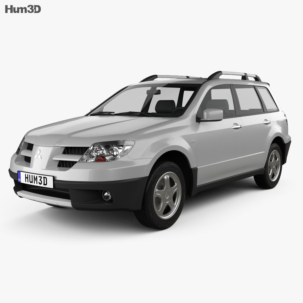 Mitsubishi Outlander 2003 3d model