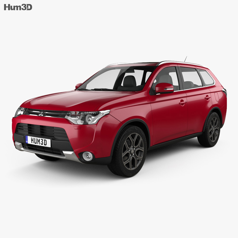 Mitsubishi Outlander 2014 3d model