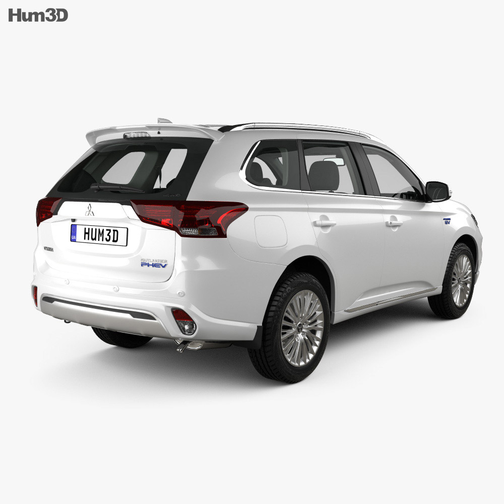 Mitsubishi Outlander PHEV with HQ interior 2018 3d model