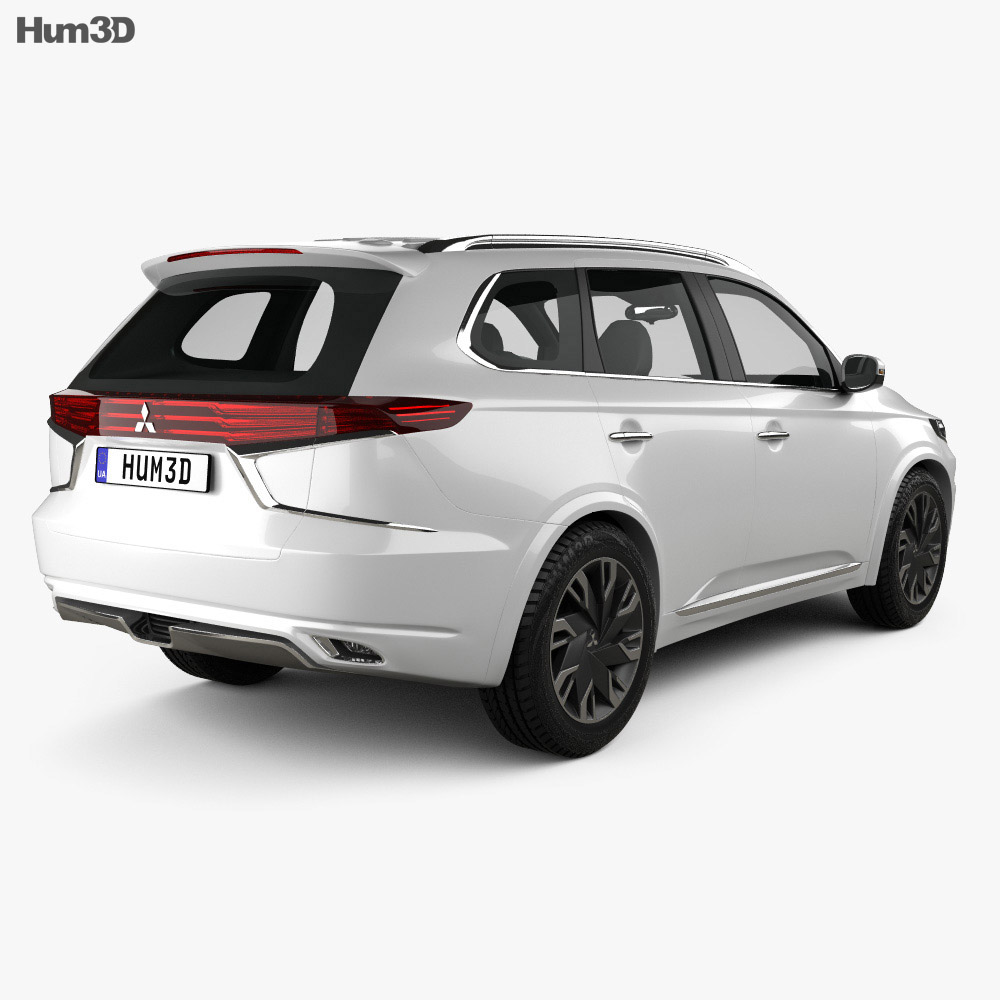 Mitsubishi Outlander PHEV S concept 2014 3d model