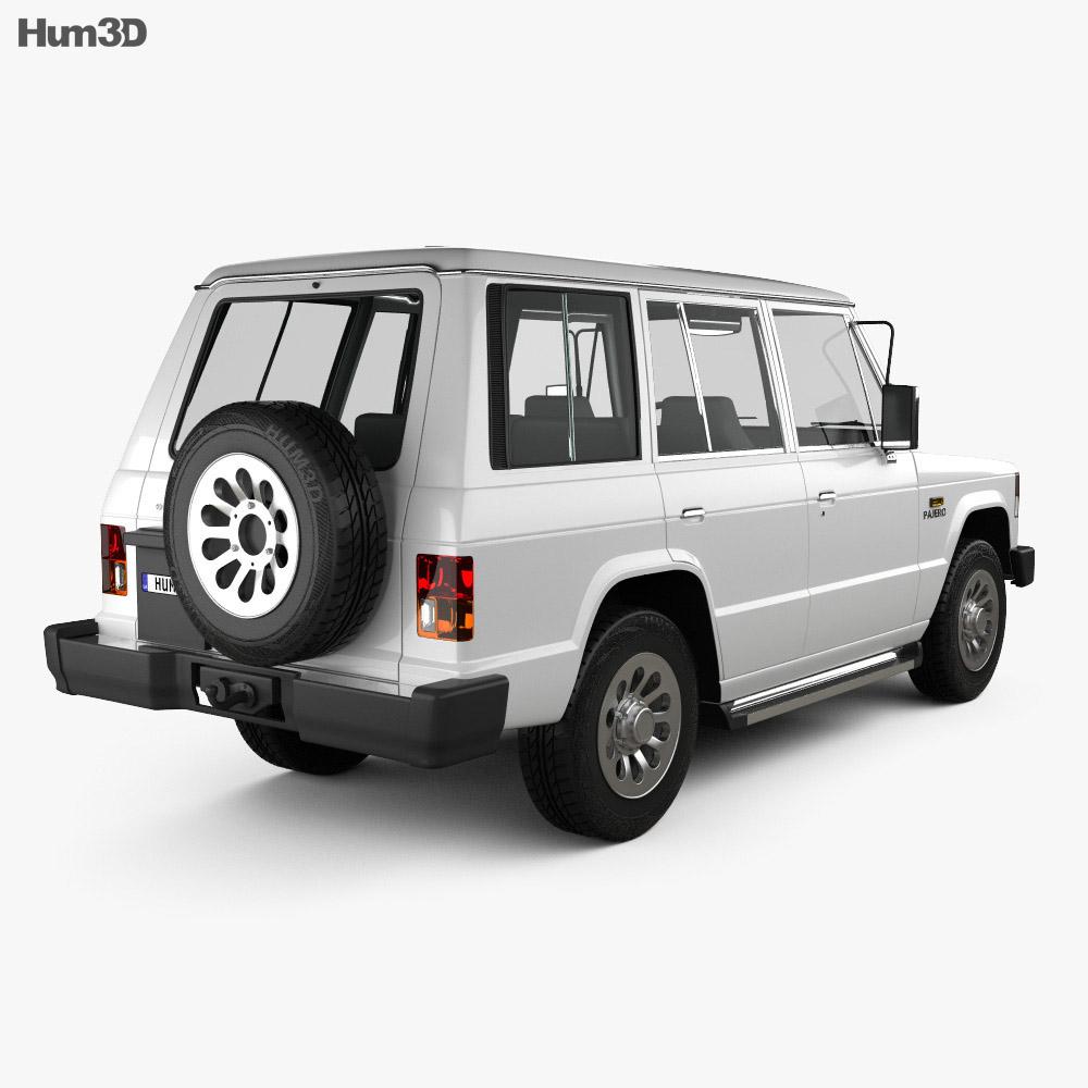 Mitsubishi Pajero (Montero) Wagon 1983 3d model back view