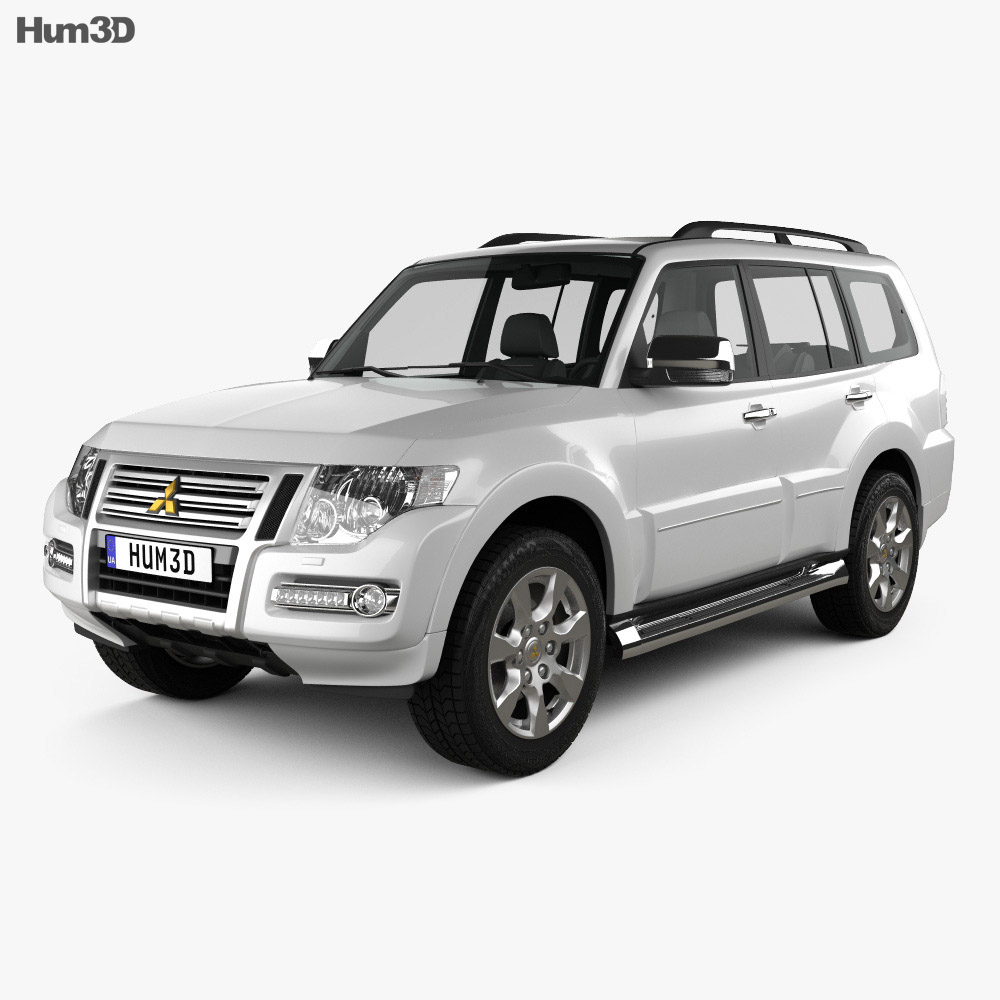 Mitsubishi Pajero 5-door CN-spec 2018 3d model
