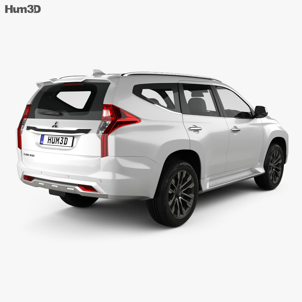 Mitsubishi Pajero Sport 2019 3d model