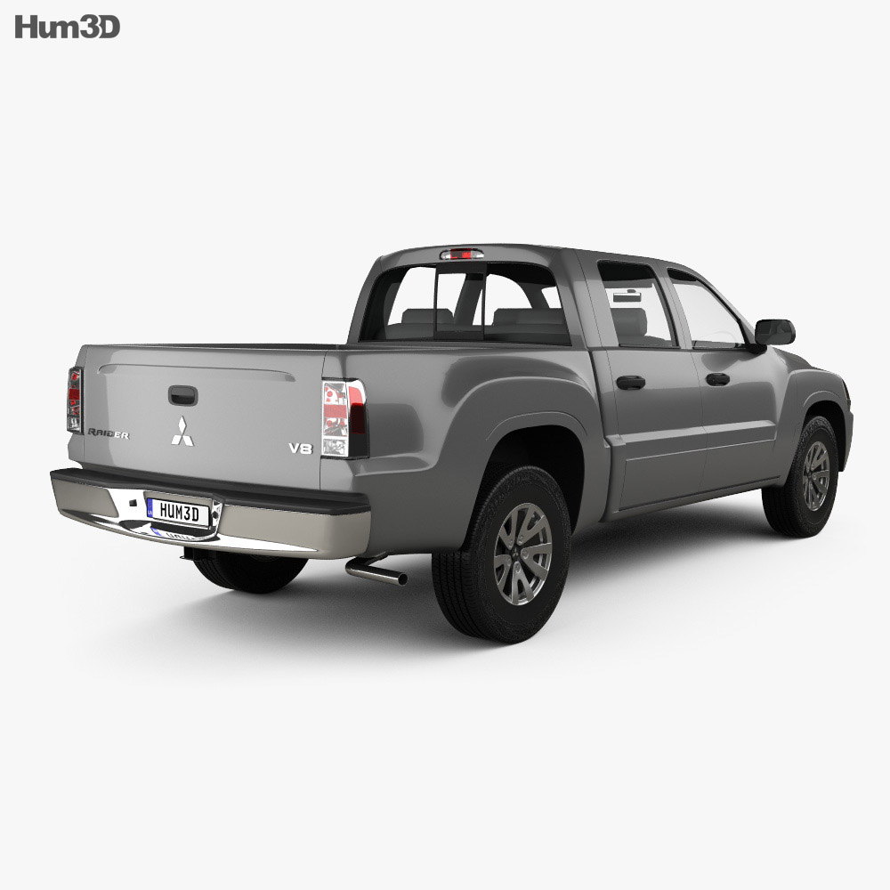 Mitsubishi Raider Double Cab 2005 3d model