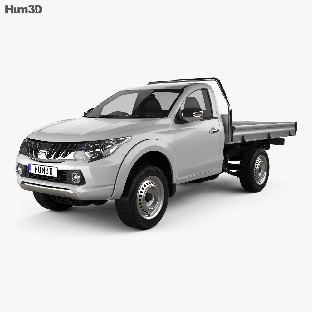 Mitsubishi Triton Single Cab Alloy Tray 2015 3d model