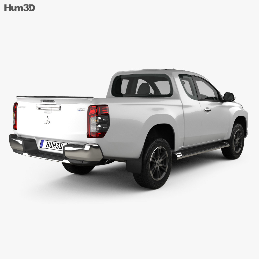 Mitsubishi Triton Club Cab 2019 3d model