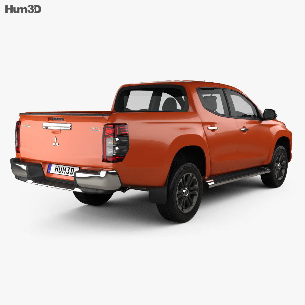 Mitsubishi Triton Double Cab 2019 3d model