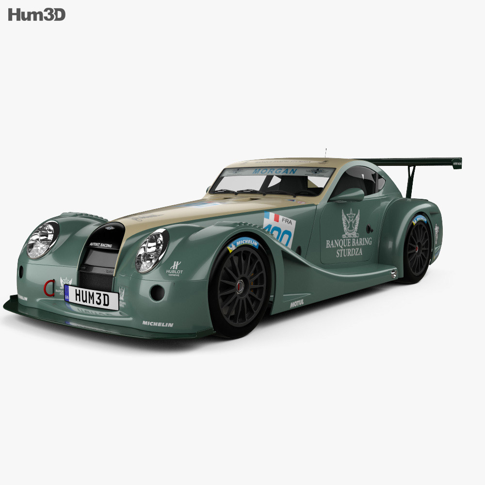 morgan aero 8 supersports gt3 2009 3d model hum3d. Black Bedroom Furniture Sets. Home Design Ideas