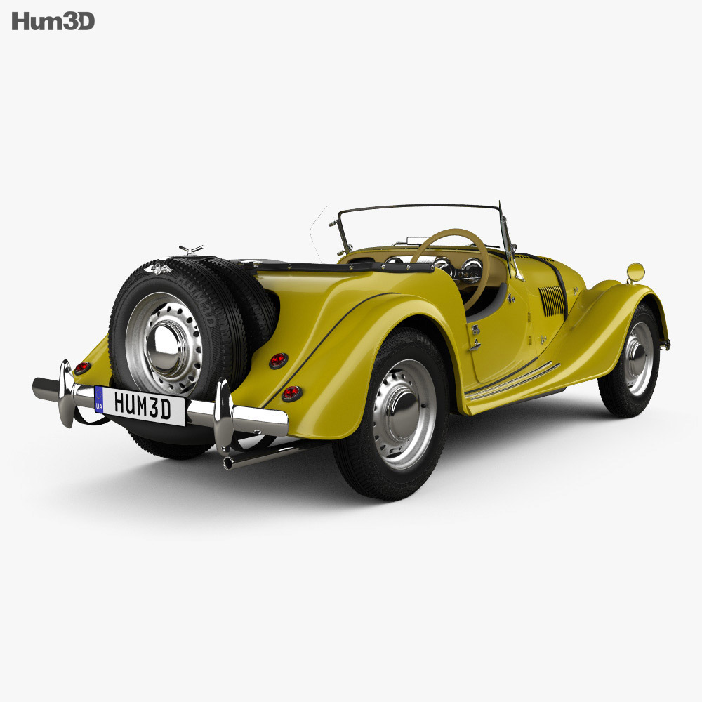 Morgan Plus 4 1954 3d model