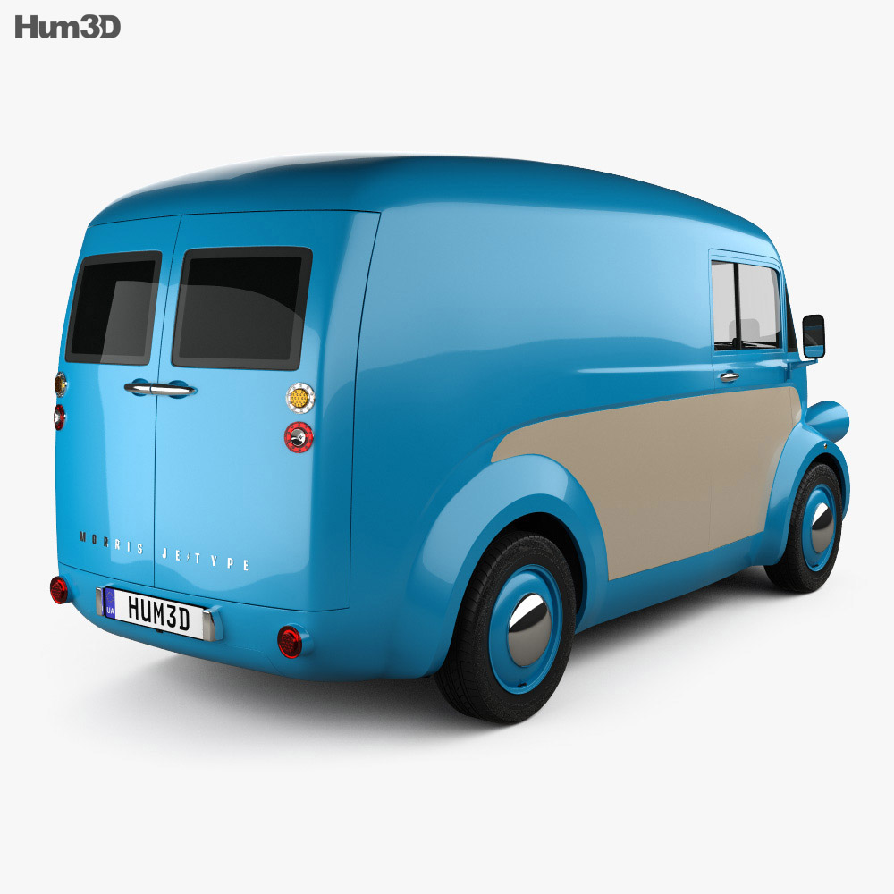 Morris JE Van 2019 3d model