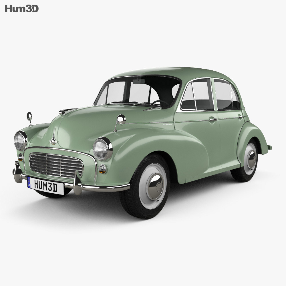 Morris Minor 1000 Saloon 1962 3d model