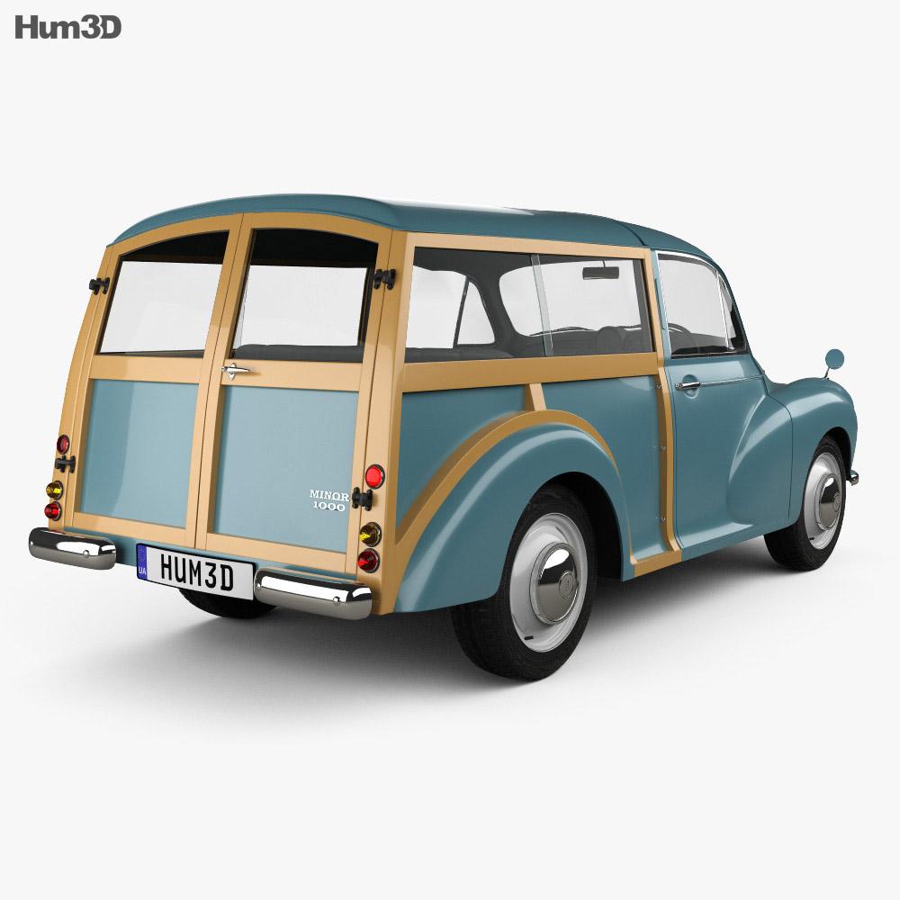 Morris Minor 1000 Traveller 1956 3d model