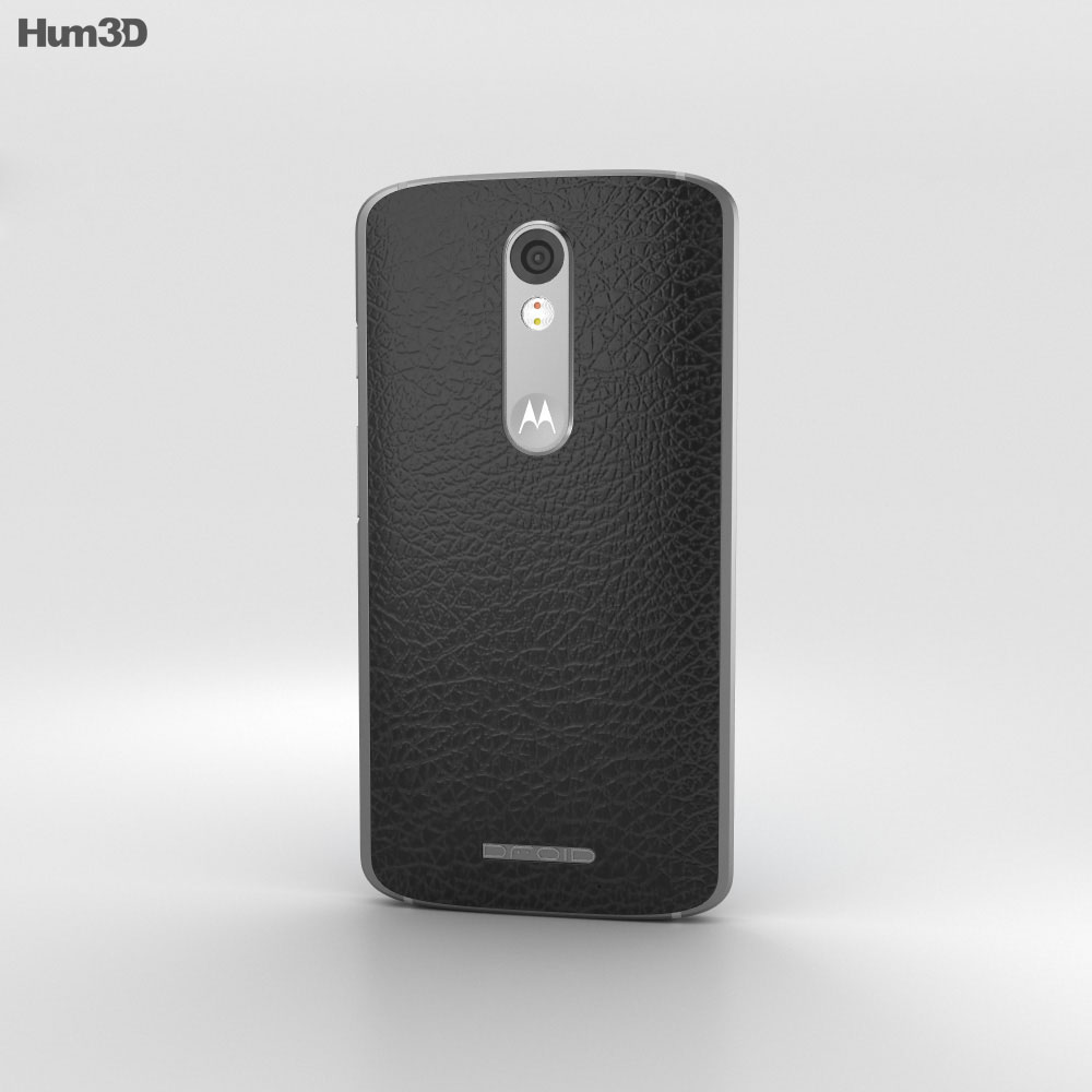 Motorola Droid Turbo 2 Black-Pebble Leather 3d model