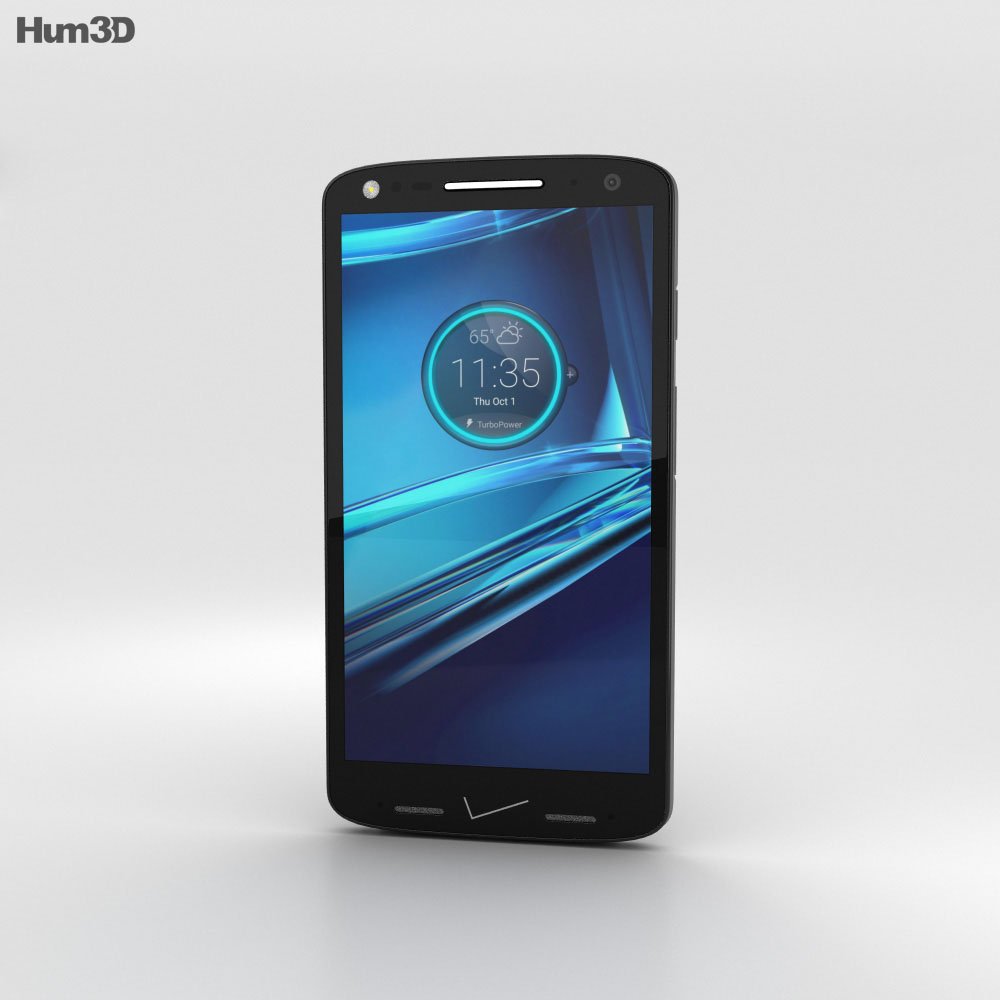 Motorola Droid Turbo 2 Black Soft-Grip 3d model