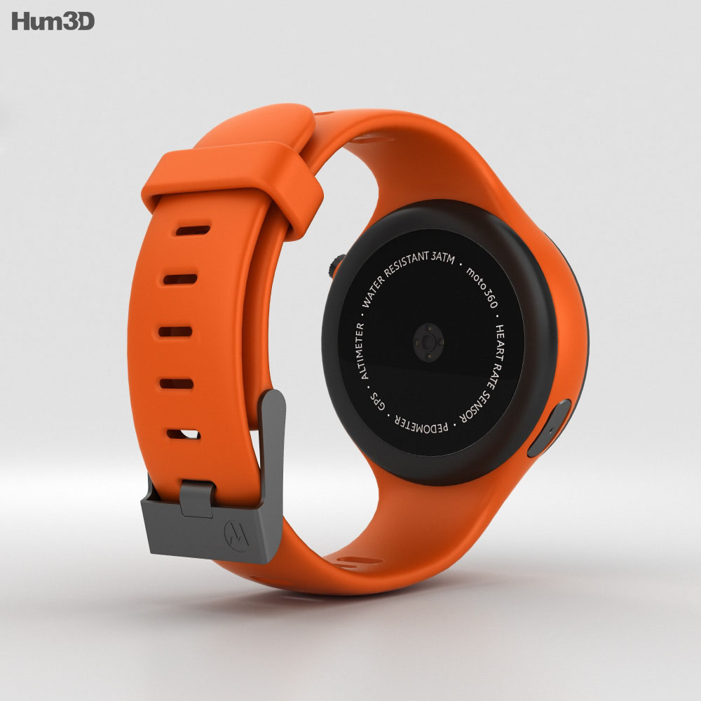 Motorola Moto 360 Sport Flame Orange 3d model