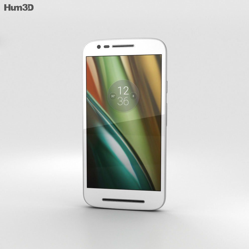 Motorola Moto E3 Power White 3d model