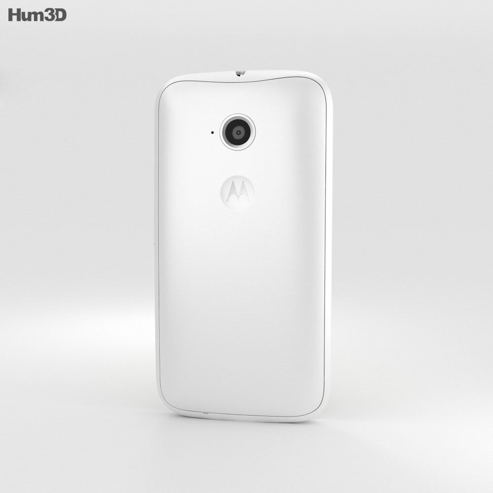Motorola Moto E (2nd Gen.) White 3d model