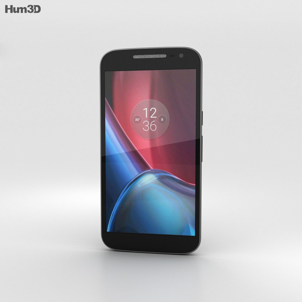 Motorola Moto G4 Black 3d model