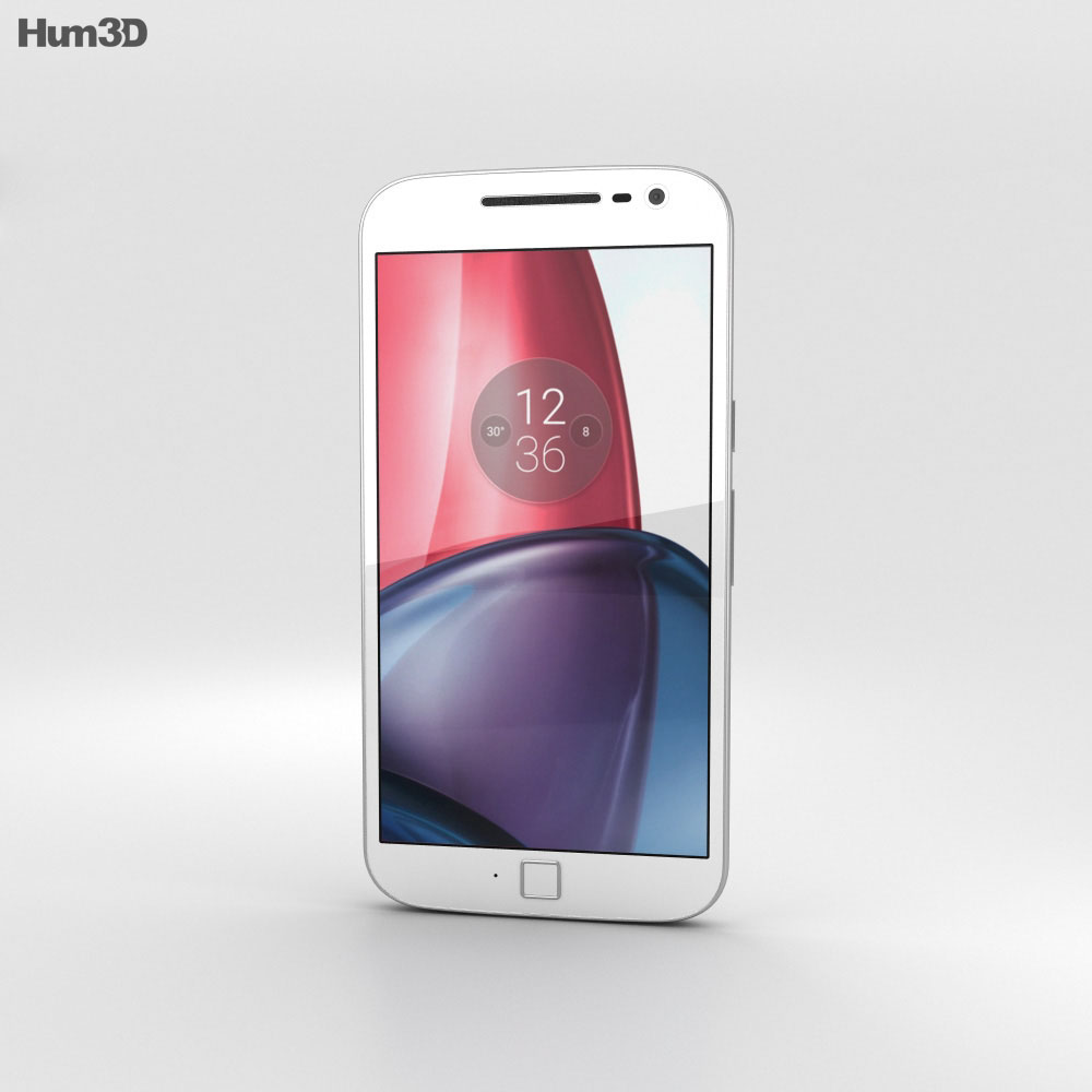 Motorola Moto G4 Plus White 3d model