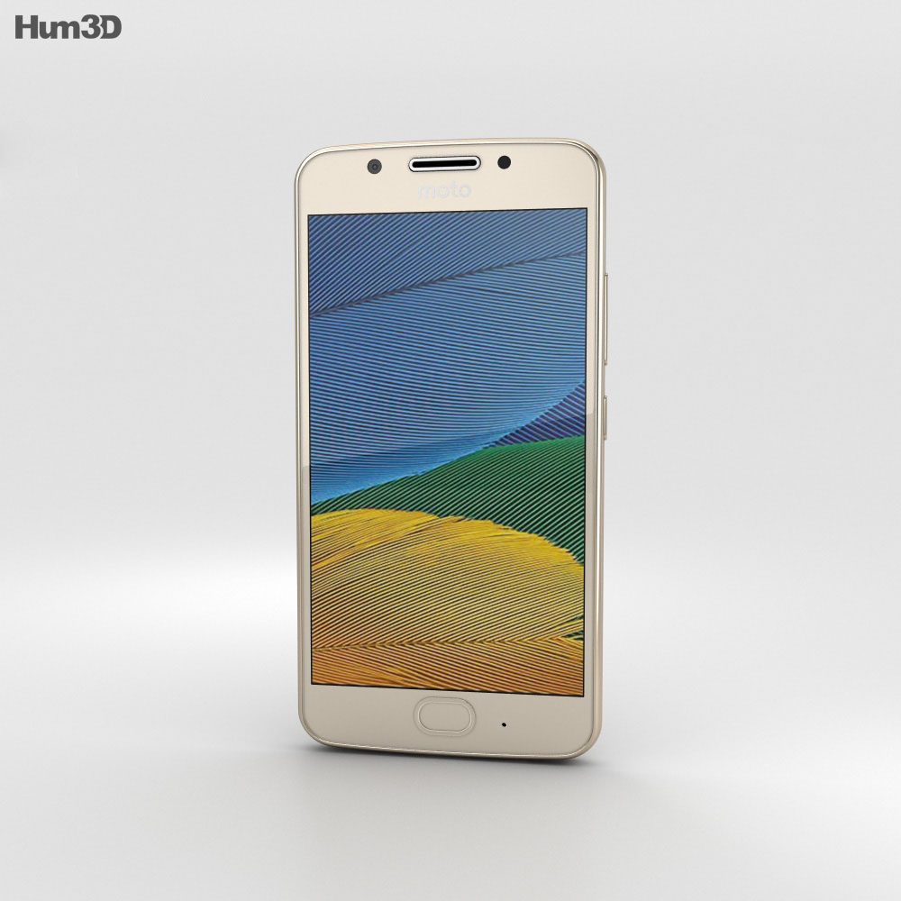 Motorola Moto G5 Fine Gold 3d model