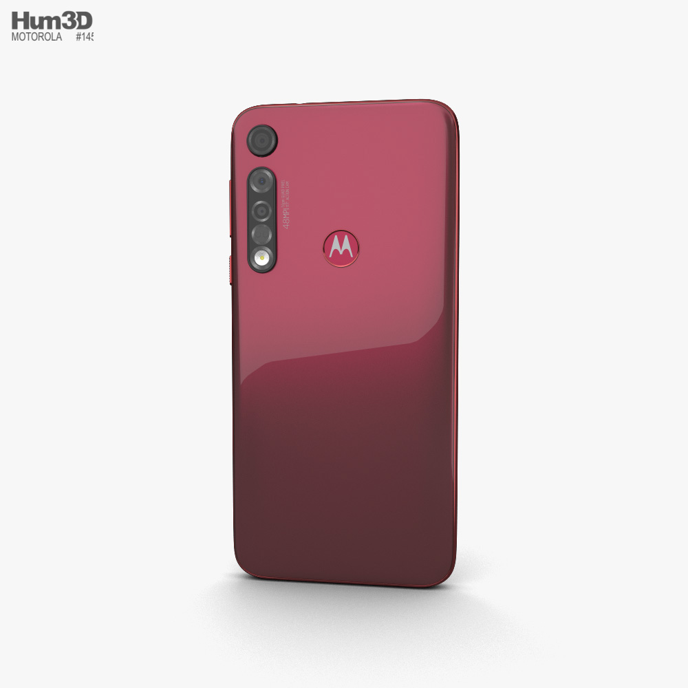 Motorola Moto G8 Plus Dark Red 3d model