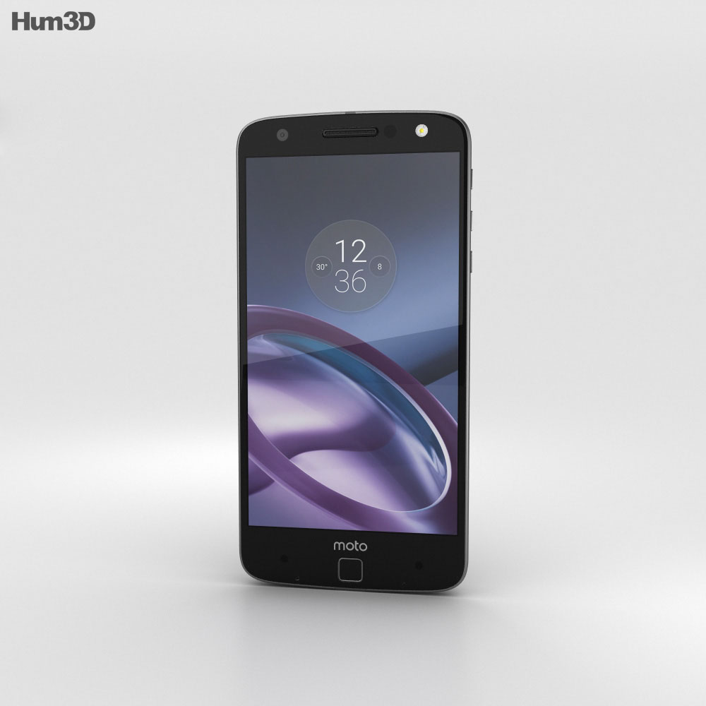 Motorola Moto Z Black Gray with Mophie Juice Pack 3d model