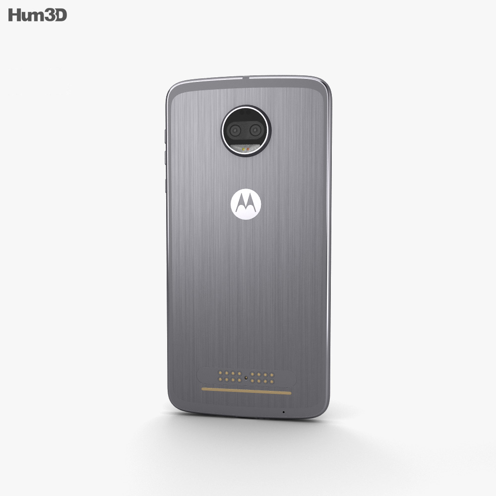 Motorola Moto Z2 Force Lunar Grey 3d model