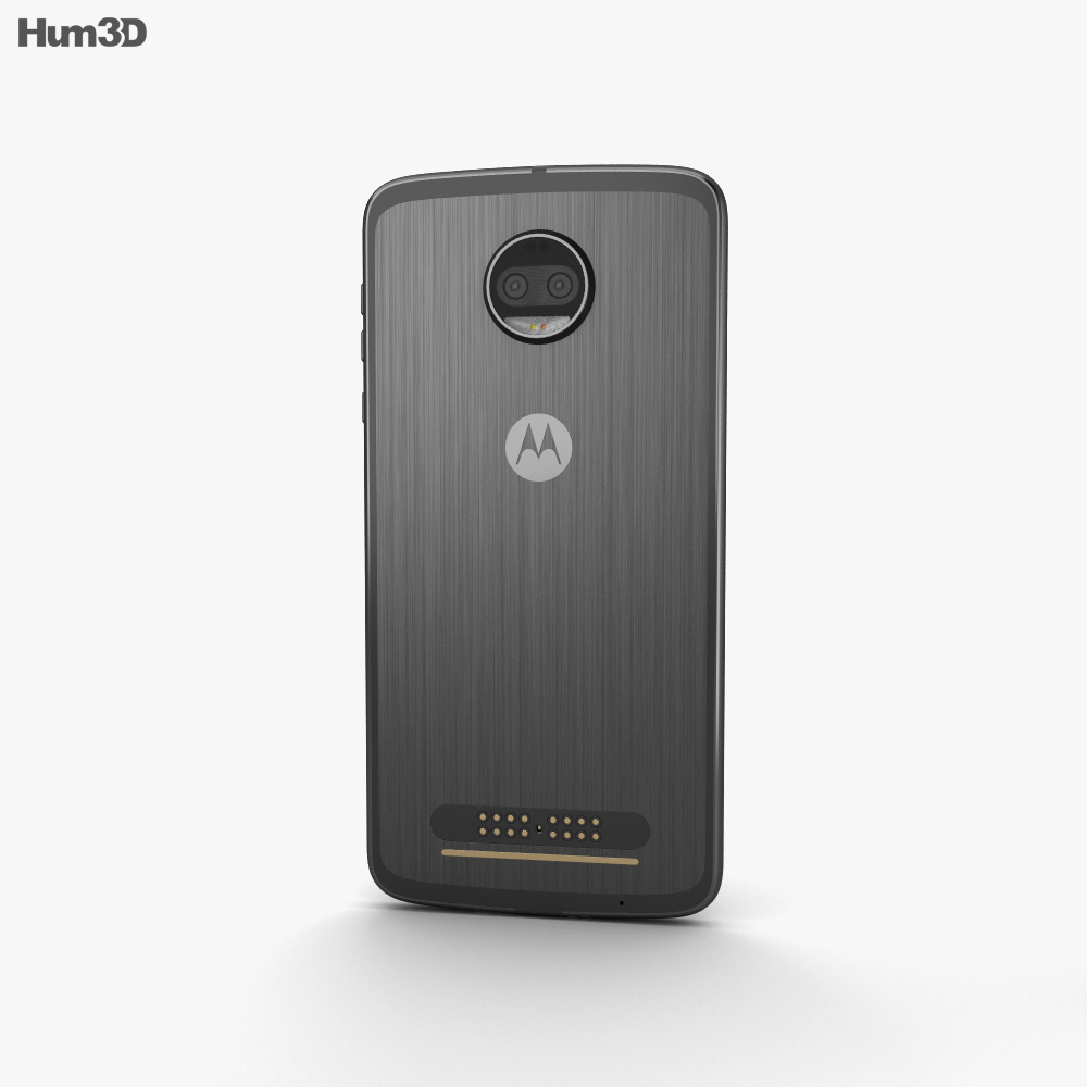 Motorola Moto Z2 Force Super Black 3d model