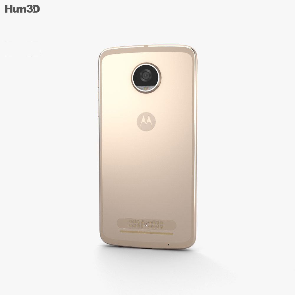 Motorola Moto Z2 Play Fine Gold 3d model
