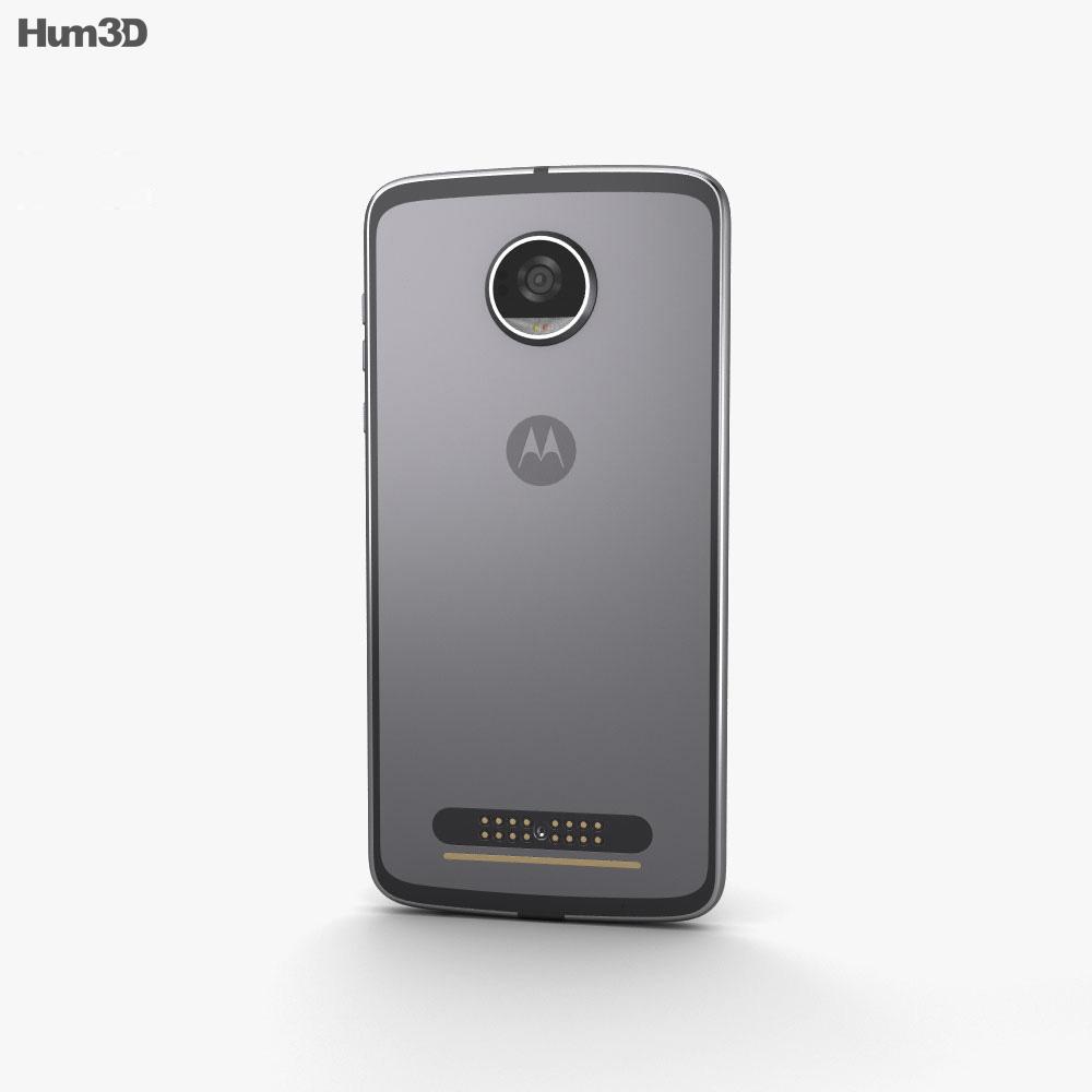 Motorola Moto Z2 Play Lunar Gray 3d model