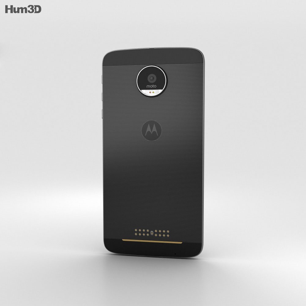 Motorola Moto Z Black Gray 3d model