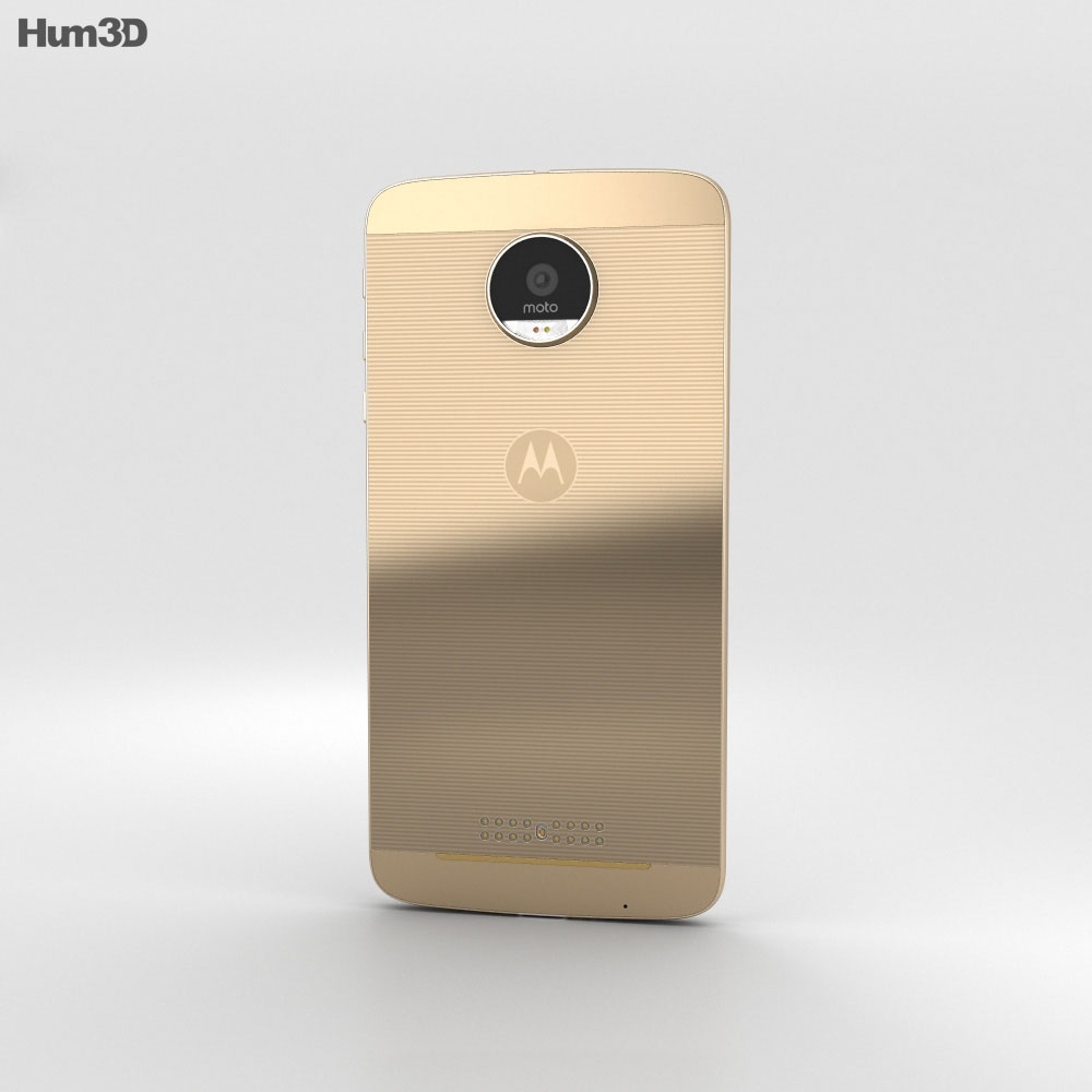 Motorola Moto Z Fine Gold 3d model