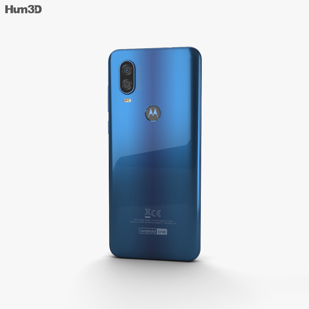 Motorola One Vision Sapphire Gradient 3d model
