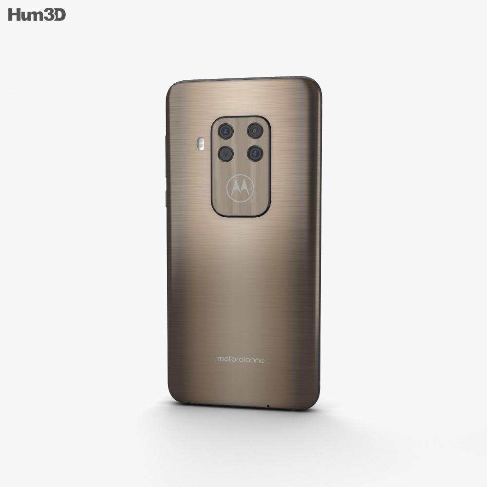 Motorola One Zoom Brushed Bronze 3d model