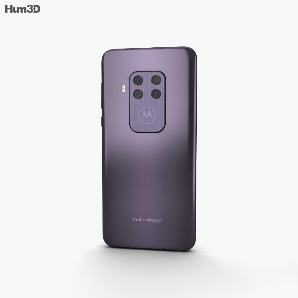 Motorola One Zoom Cosmic Purple 3d model