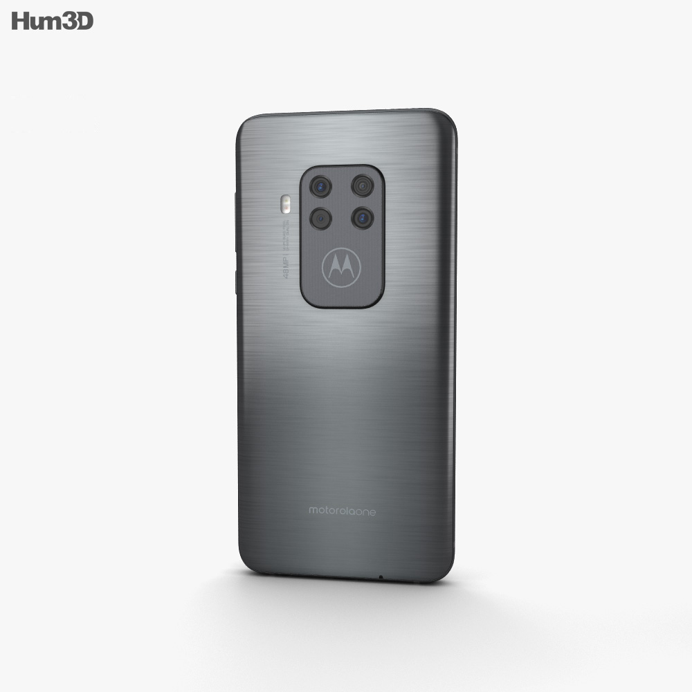 Motorola One Zoom Electric Gray 3d model