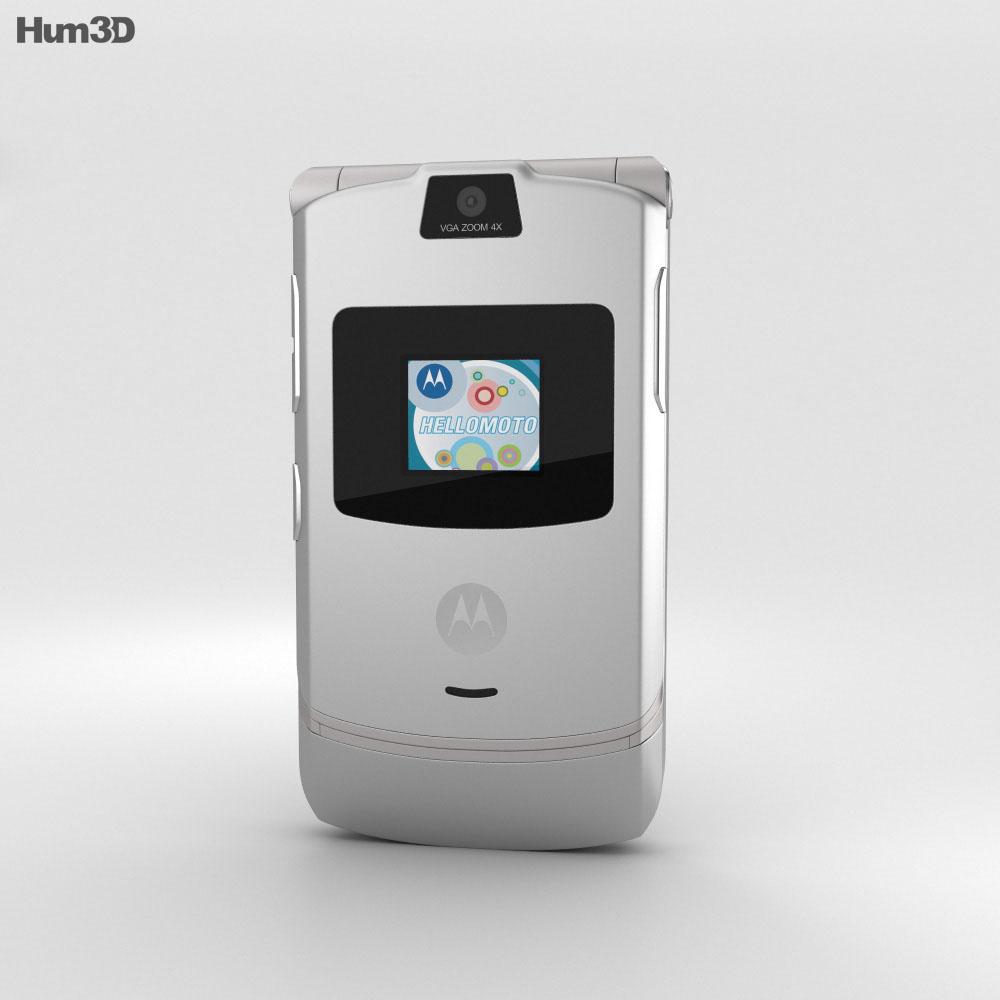 Motorola RAZR V3 Silver 3d model