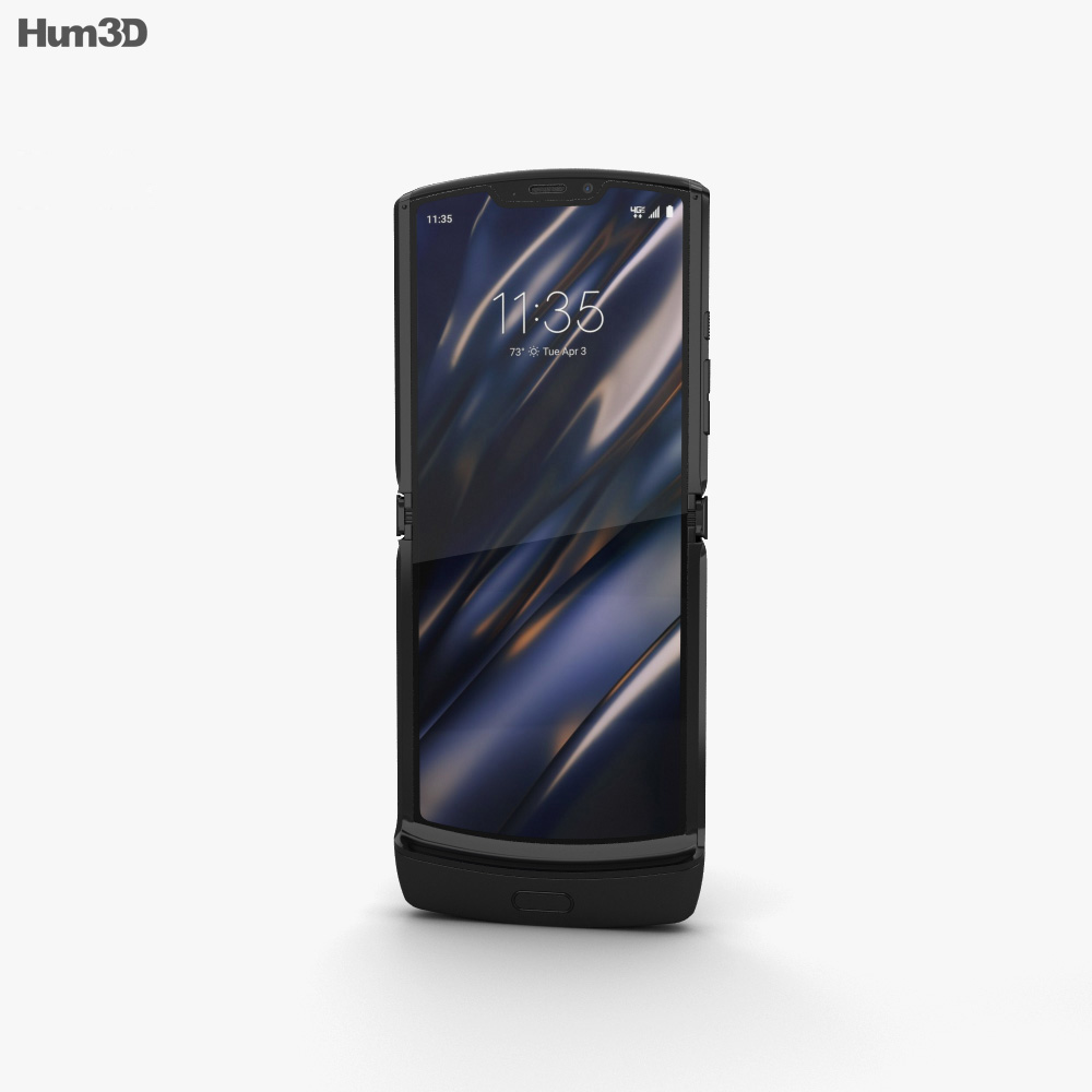 Motorola Razr Noir Black 2019 3d model