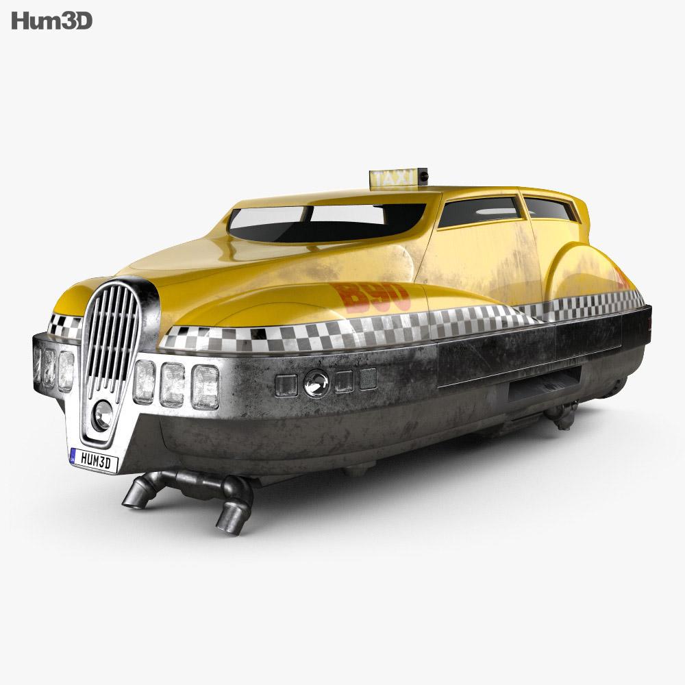 Fifth element taxi 1997 3d model