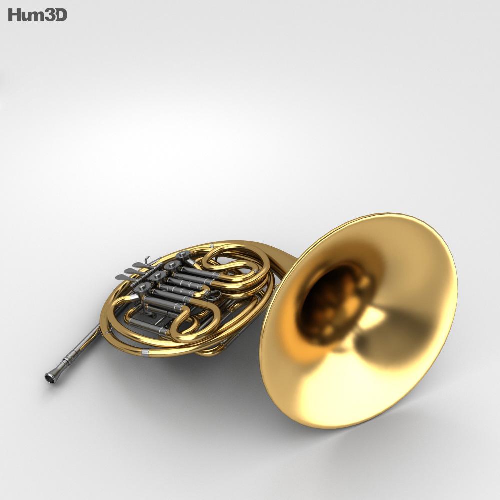 French Horn 3d model