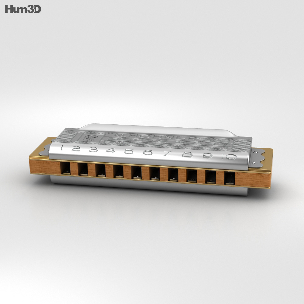 Hohner Blues Harp 3D model
