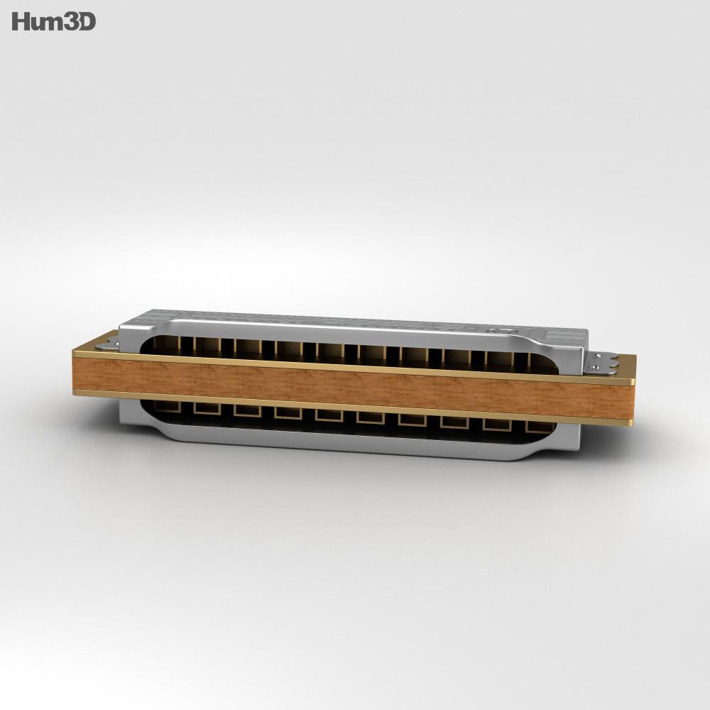 Hohner Blues Harp 3d model