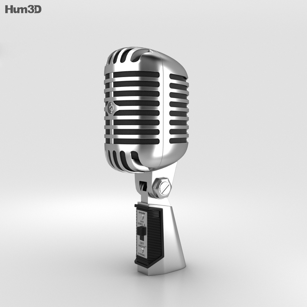 3D model of Retro Microphone