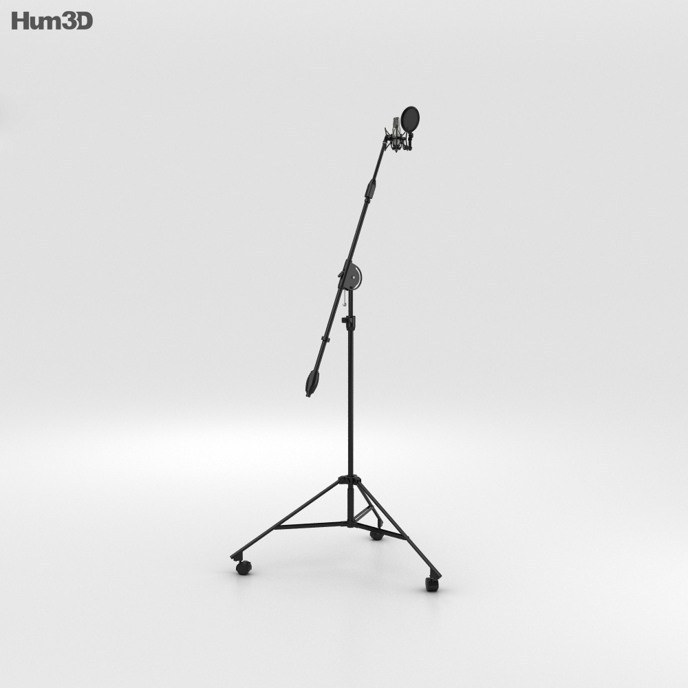 Studio Microphone 3d model