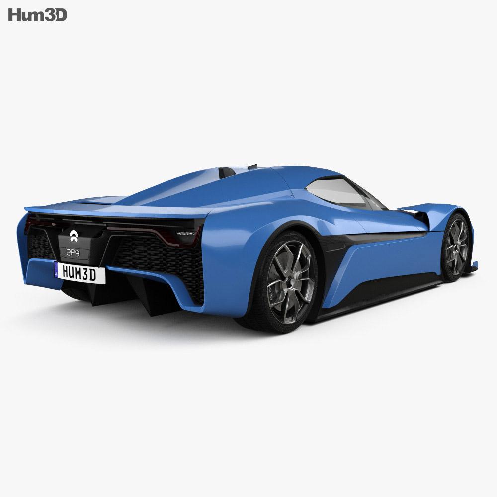 NIO EP9 2017 3d model