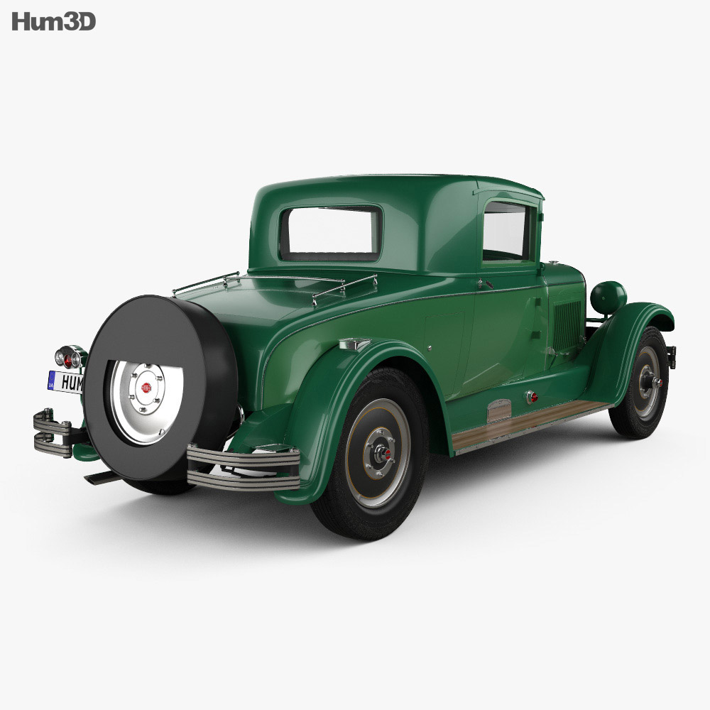 Nash Advanced Six 260 coupe 1927 3d model